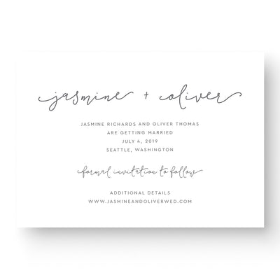 boho save the date card