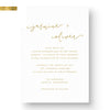 custom foil wedding invitation modern classic simple clean