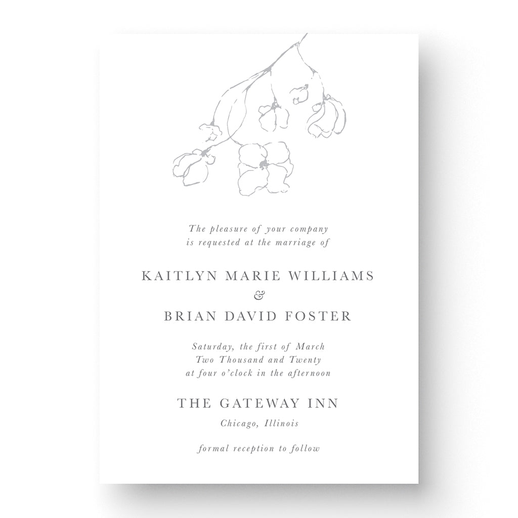 Kaitlyn Wedding Invitation