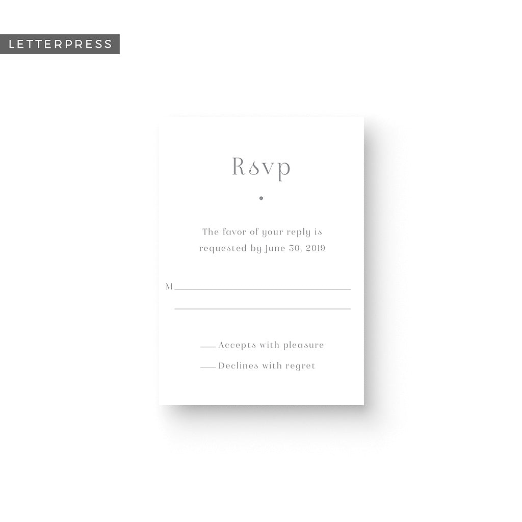 Kinsley Letterpress Response Card