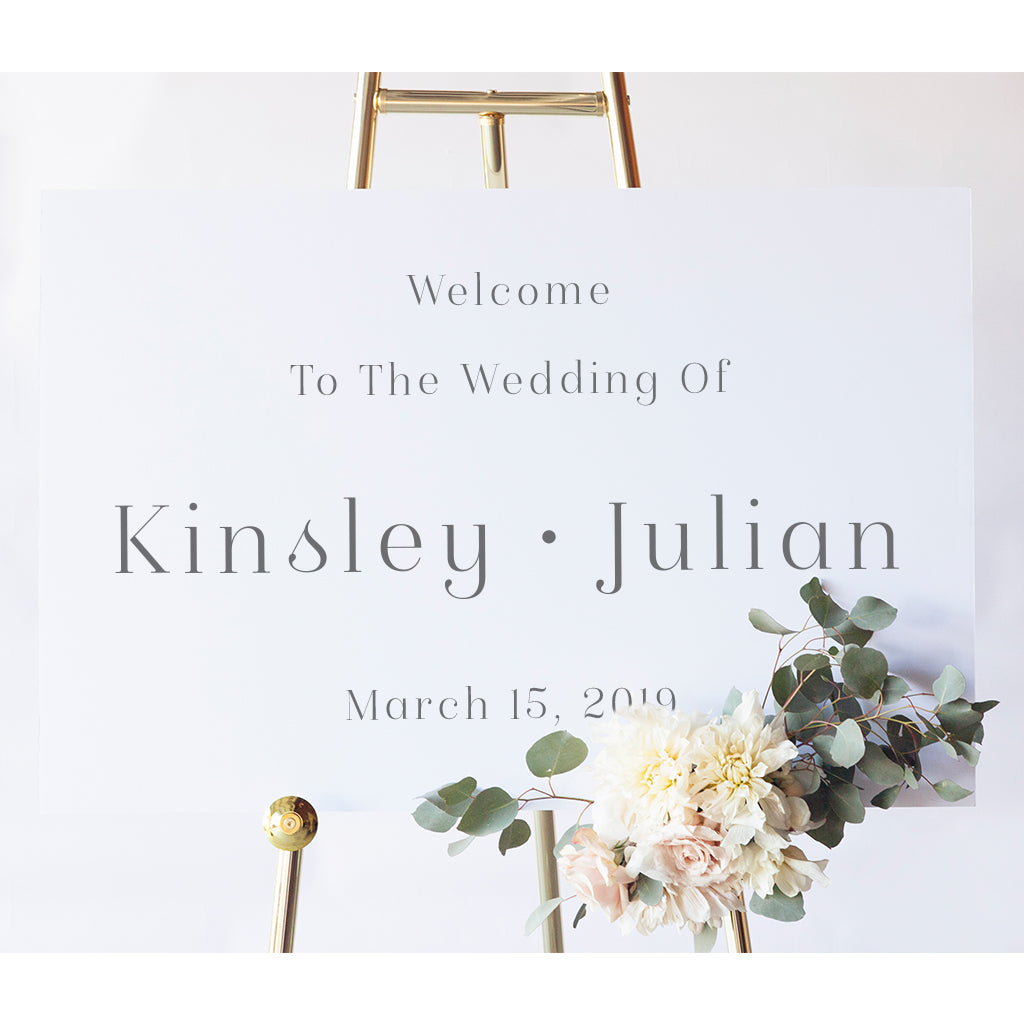 Kinsley Wedding Welcome Sign