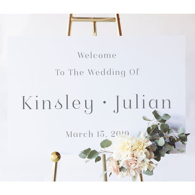 Modern Wedding Sign | Kinsley Wedding Welcome Sign