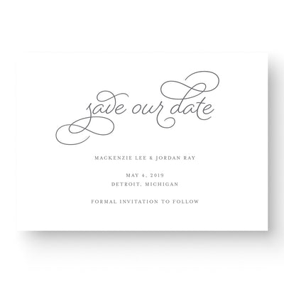 beautiful calligraphy save the date