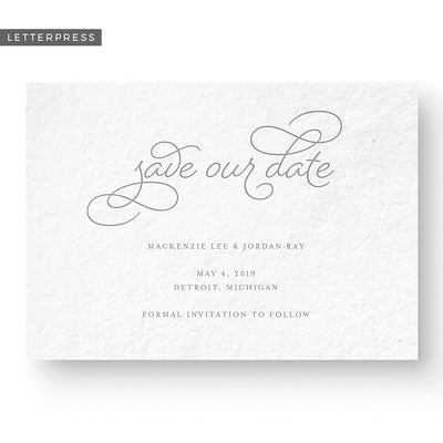 formal script save the date