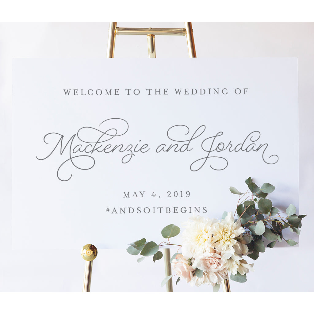 Wedding Hashtag Sign | Mackenzie Wedding Welcome Sign