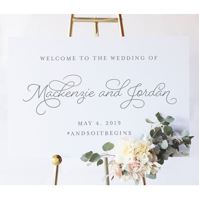 Mackenzie Wedding Welcome Sign