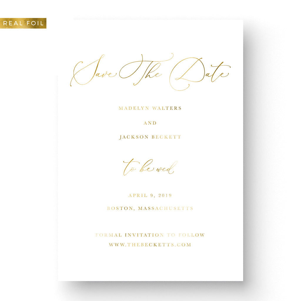 elegant calligraphy save the date