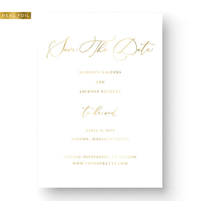 Elegant Foil Save the Date Design