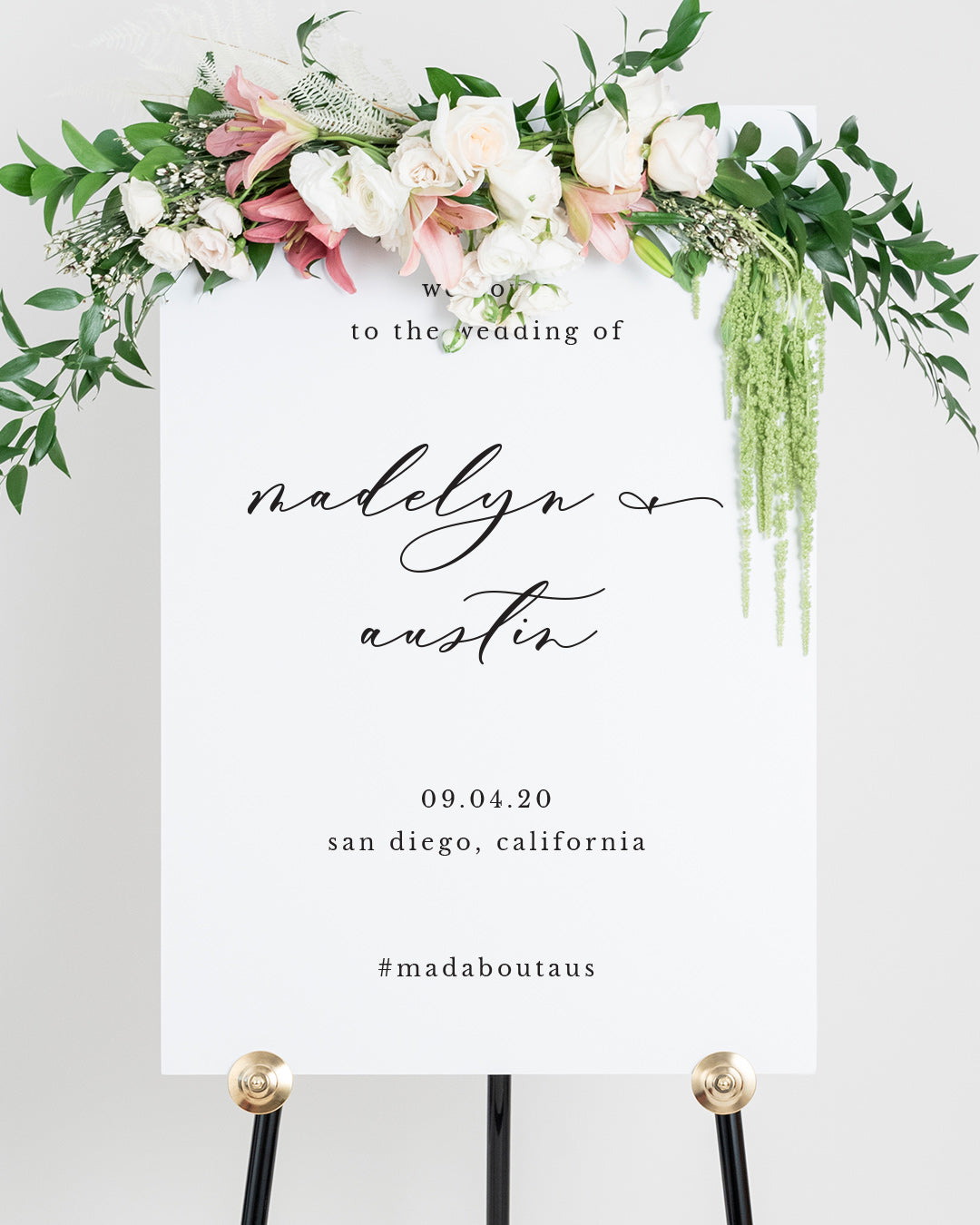Elegant Wedding Welcome Board | The Madelyn