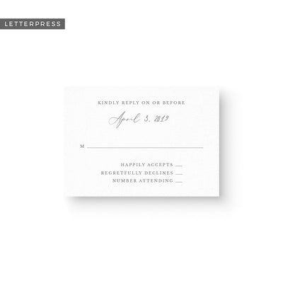 Madison Letterpress Response Card