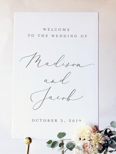Madison Wedding Welcome Board