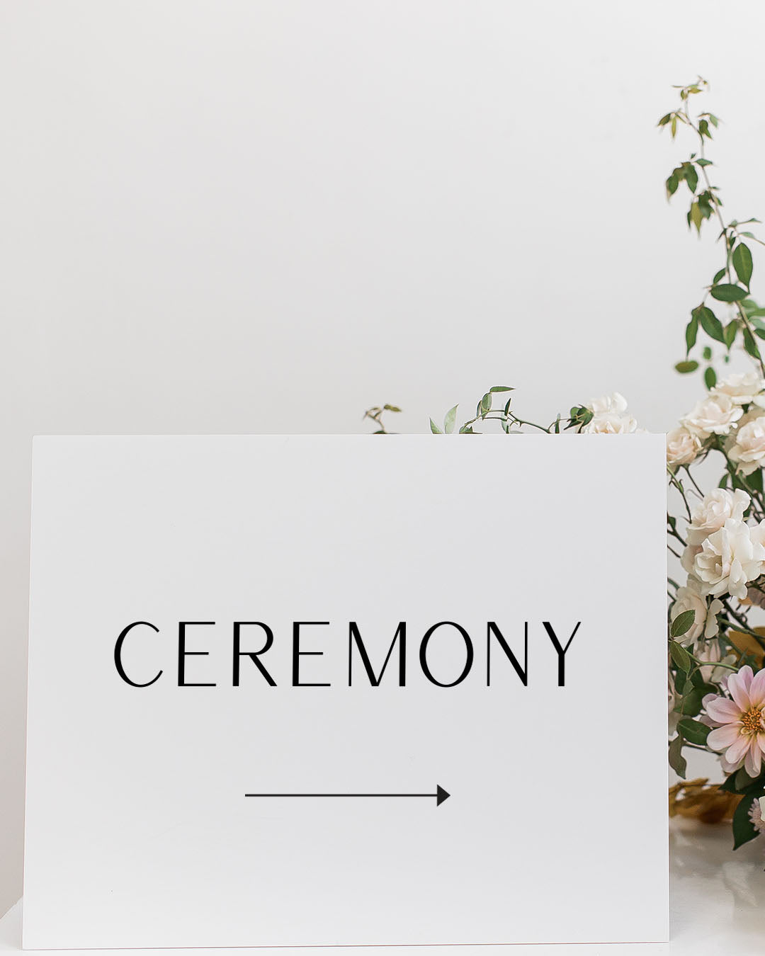 Modern Wedding Direction Signs | The Meaghan