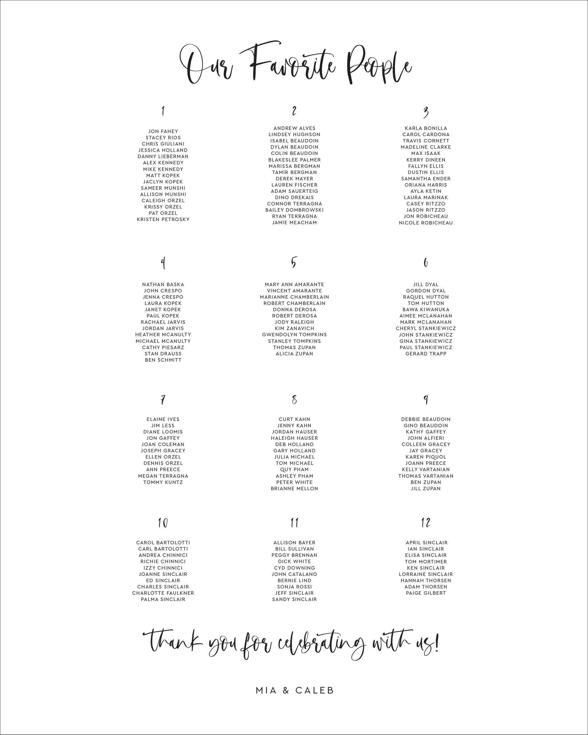 Find Your Seat Wedding Sign | The Mia