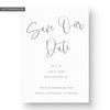 modern boho letterpress save the date card