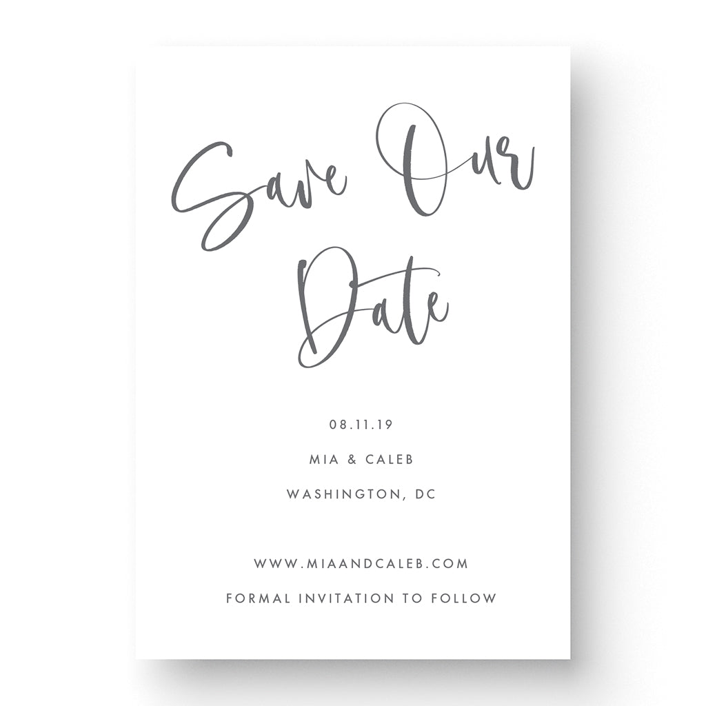 calligraphy save the date boho save the date