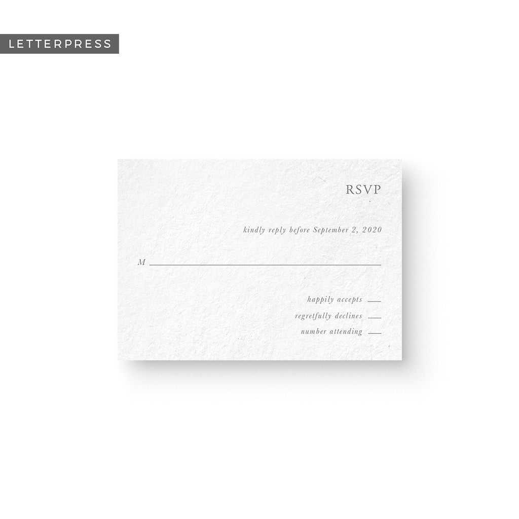 Morgan Letterpress Response Card
