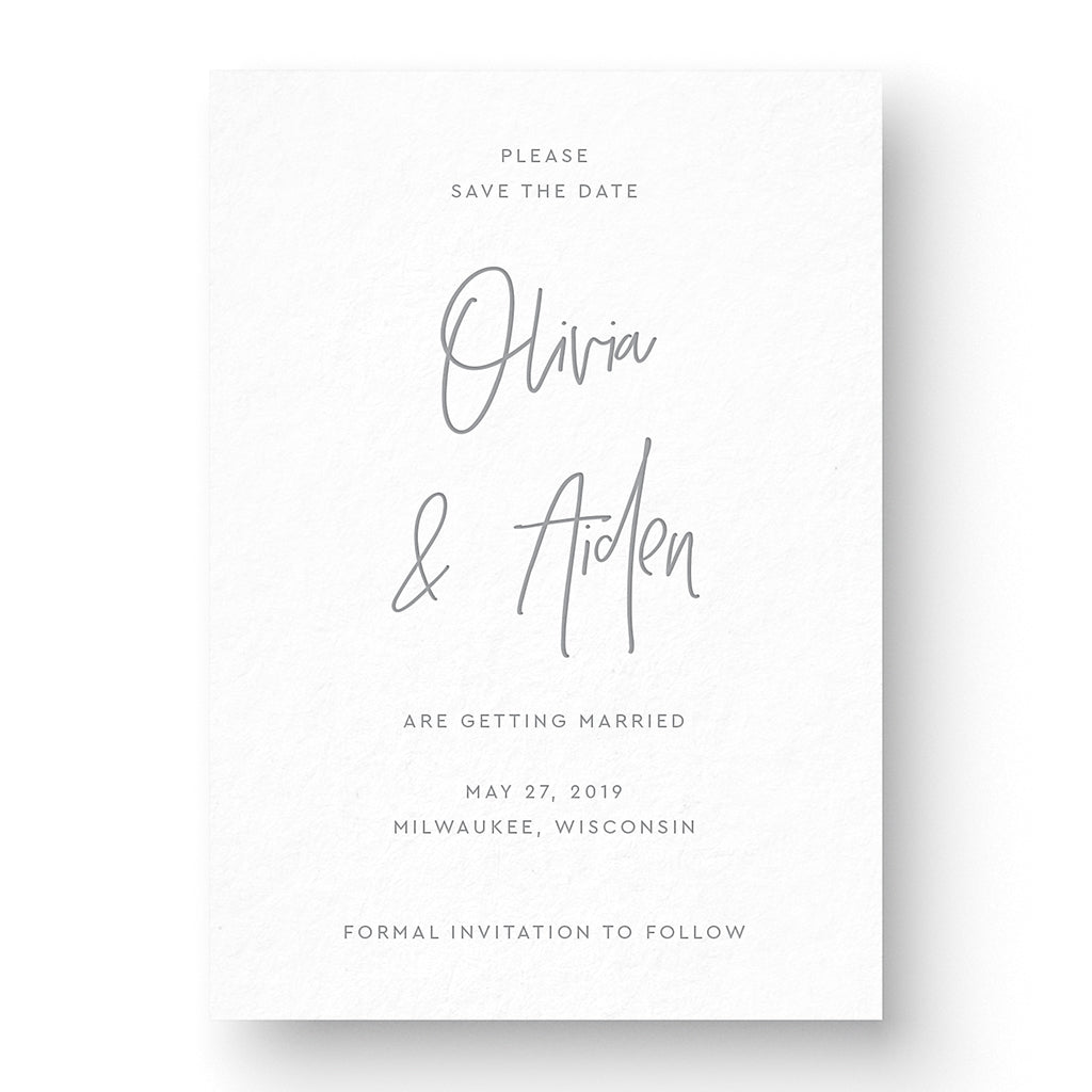 Modern classic save the date