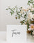 Modern Wedding Table Signs | The Olivia