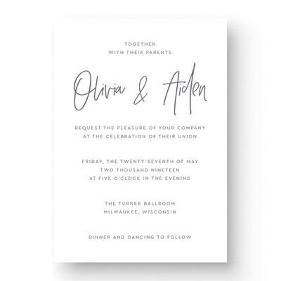 Olivia Wedding Invitation