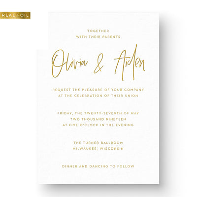 Olivia Foil Wedding Invitation
