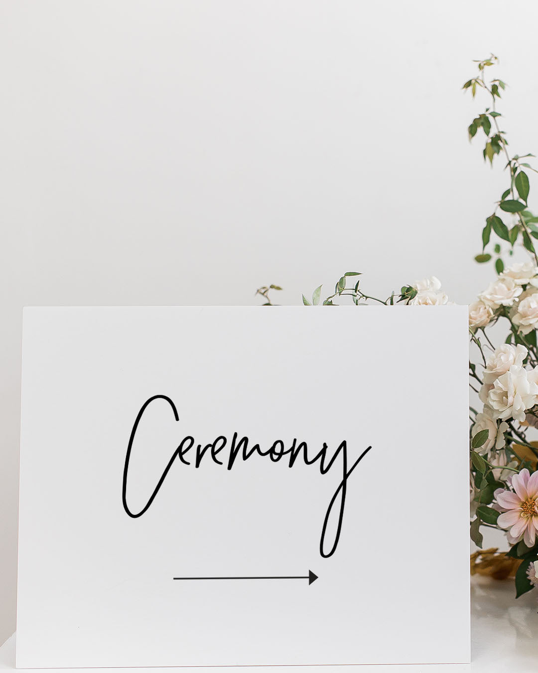 Simple Wedding Direction Signs | The Olivia
