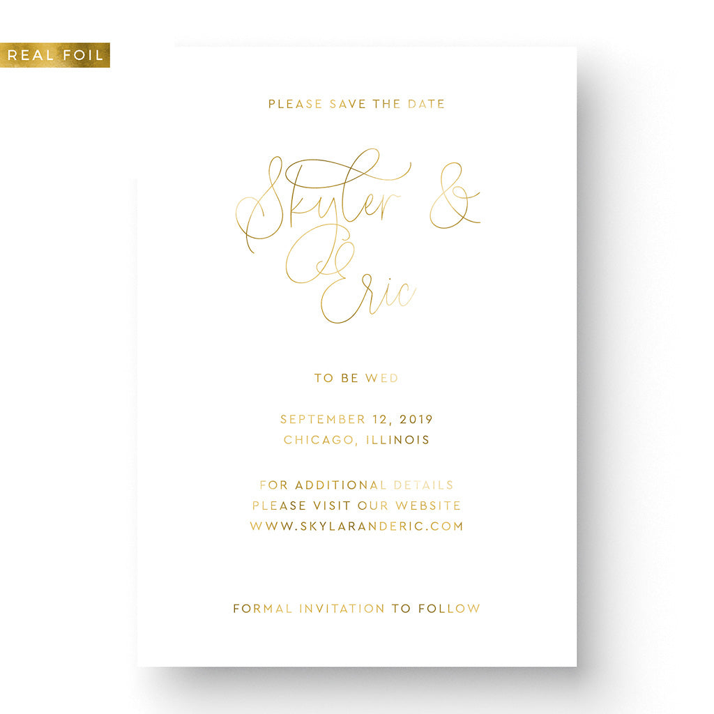 Classic Foil Save the Date Card