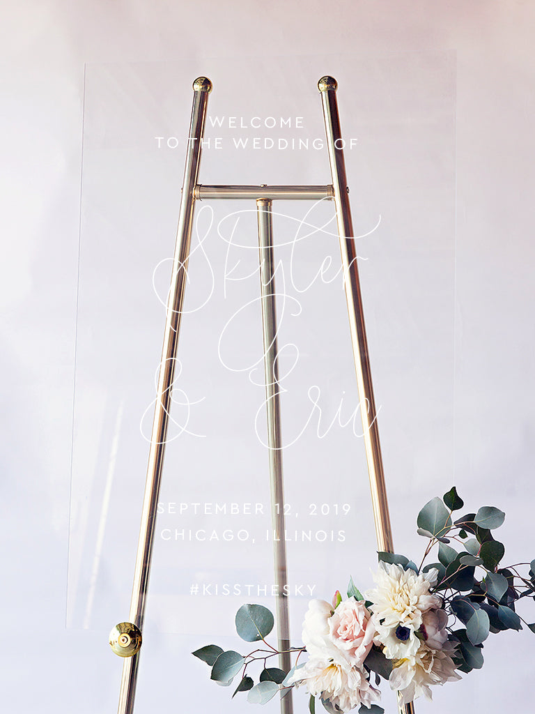 Skyler Wedding Welcome Sign