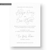 Skyler Letterpress Wedding Invitation