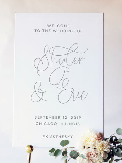 Welcome to our Wedding Sign | Skyler Wedding Signs