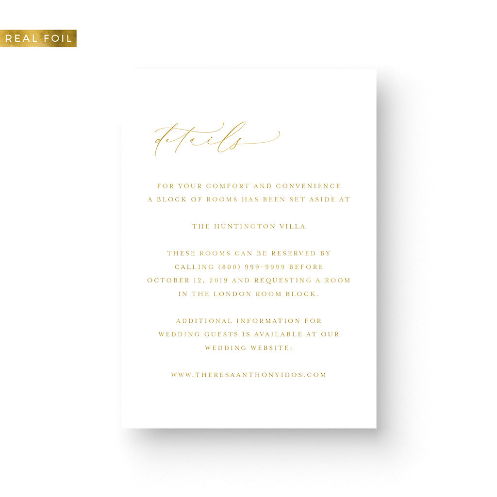 Theresa Foil Details Card