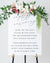Simple Unplugged Ceremony Sign | The Theresa