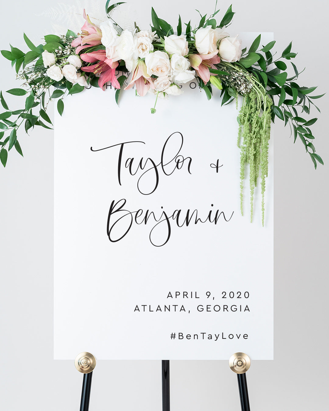 Large Wedding Welcome Sign | The Taylor