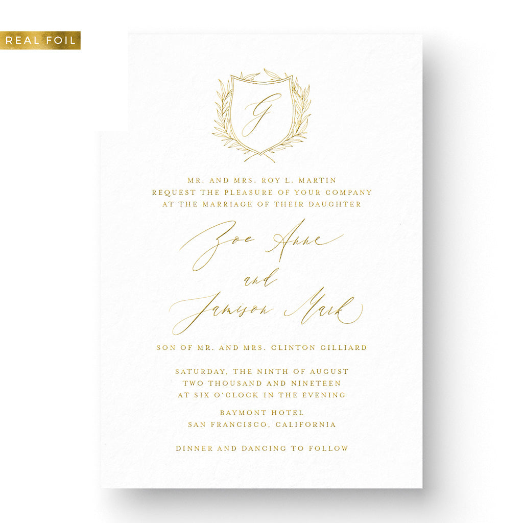 Zoe Foil Wedding Invitation