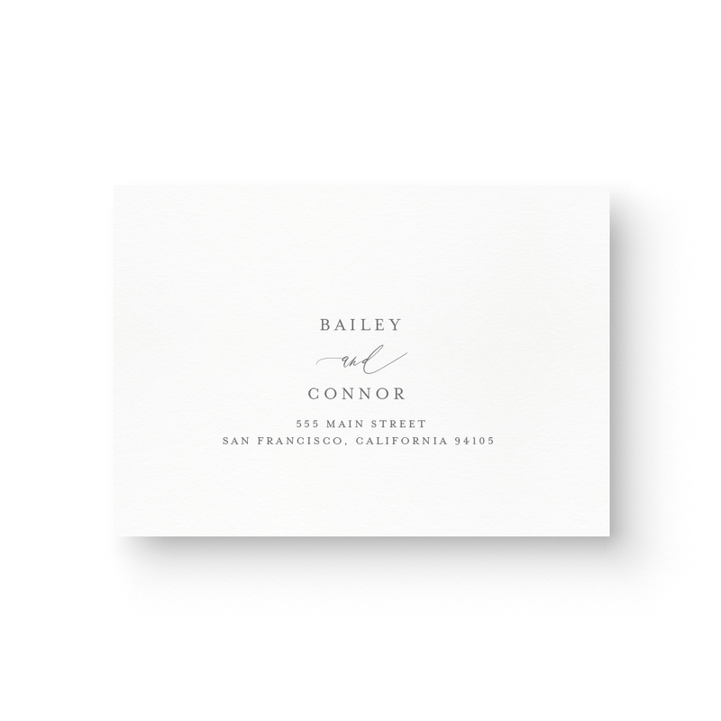 Bailey Foil Response Card