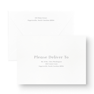 classic modern save the date card envelope addressing