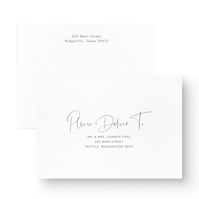 Modern save the date Card envelopes with handwritten script font