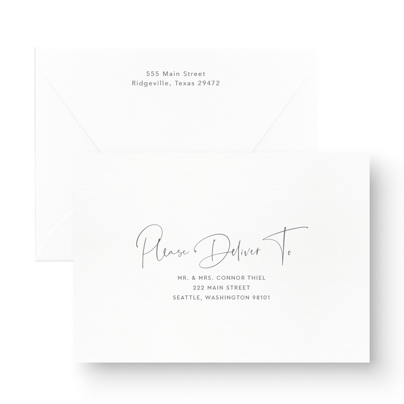 Simple Modern Black Save the Date Cards  with white ink