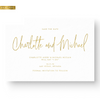 Gold Foil Modern Calligraphy Wedding Save the Date Card