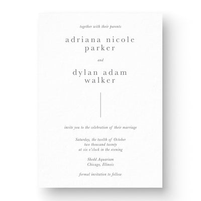 Simple Wedding Invitation Cards modern minimal