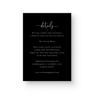 Evelyn White Ink Details Card