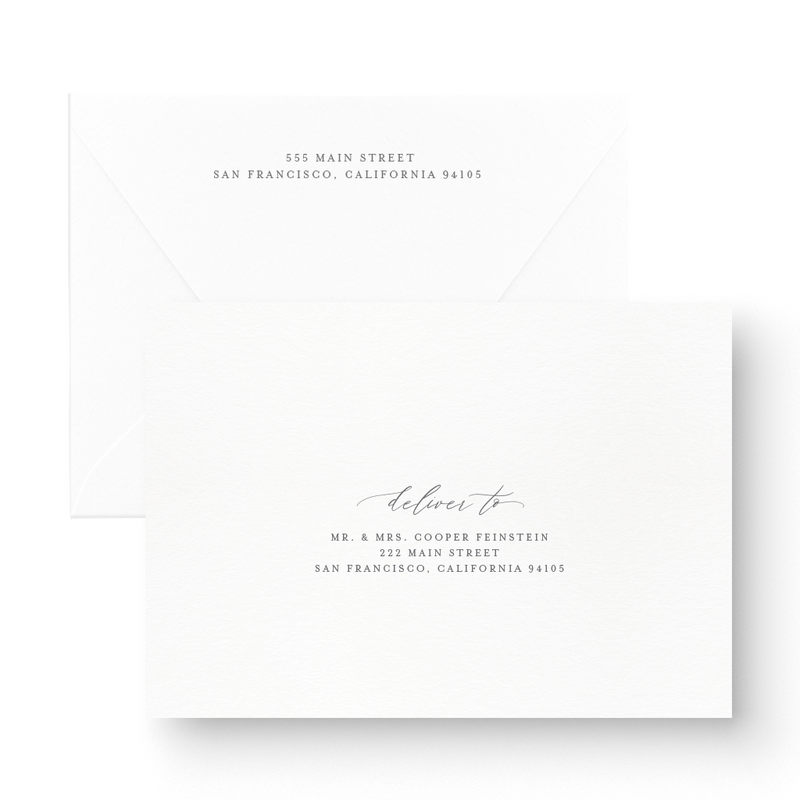 elegant letterpress save the date card classy