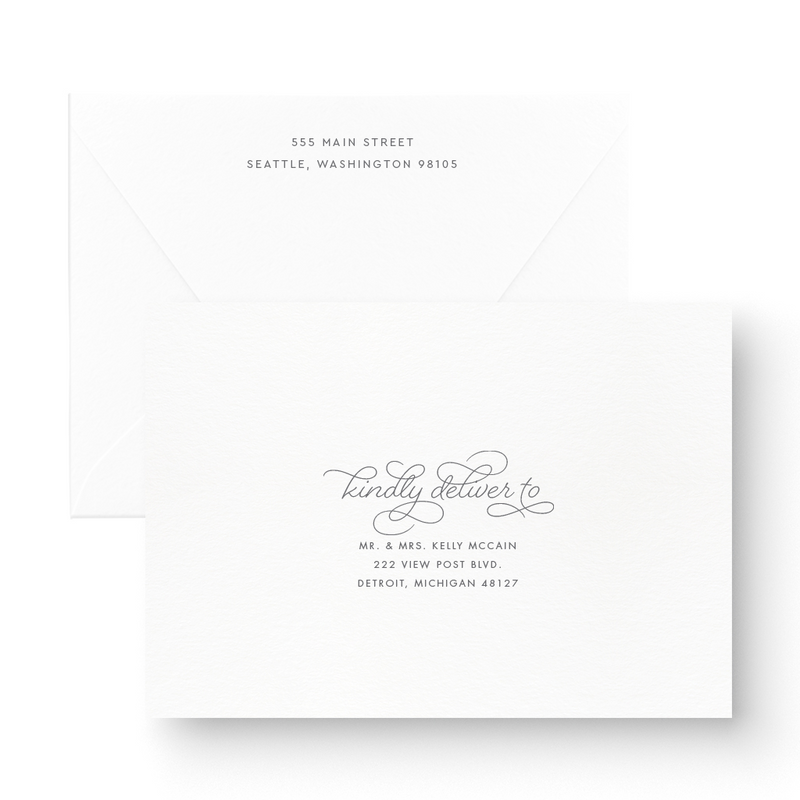 Mackenzie Foil Wedding Invitation