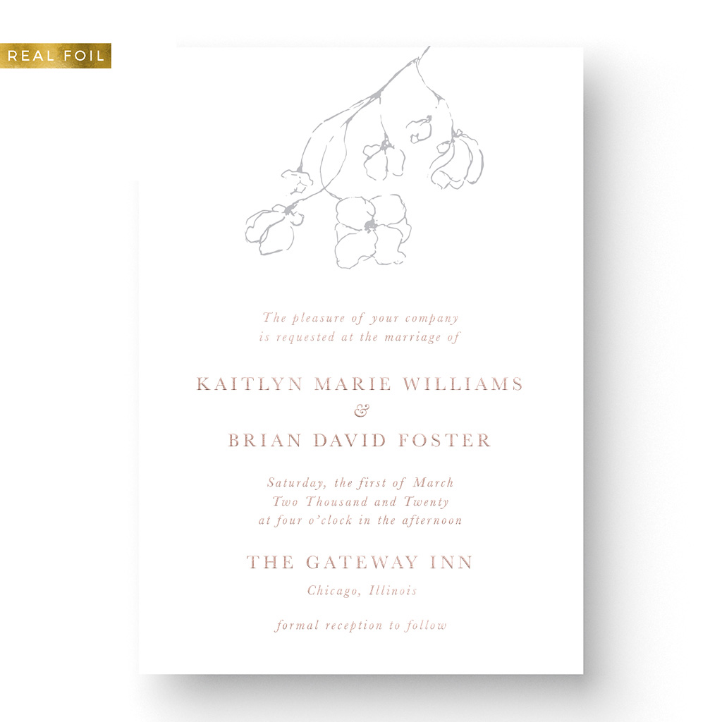 Kaitlyn Foil Wedding Invitation