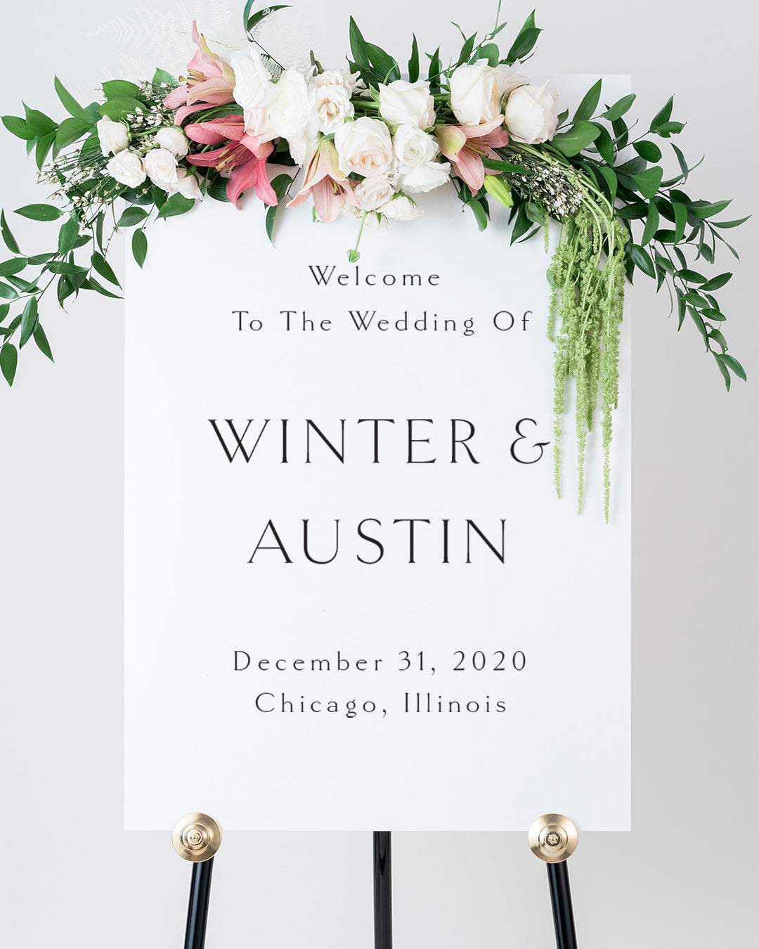 Minimalist Wedding Welcome Sign | The Winter