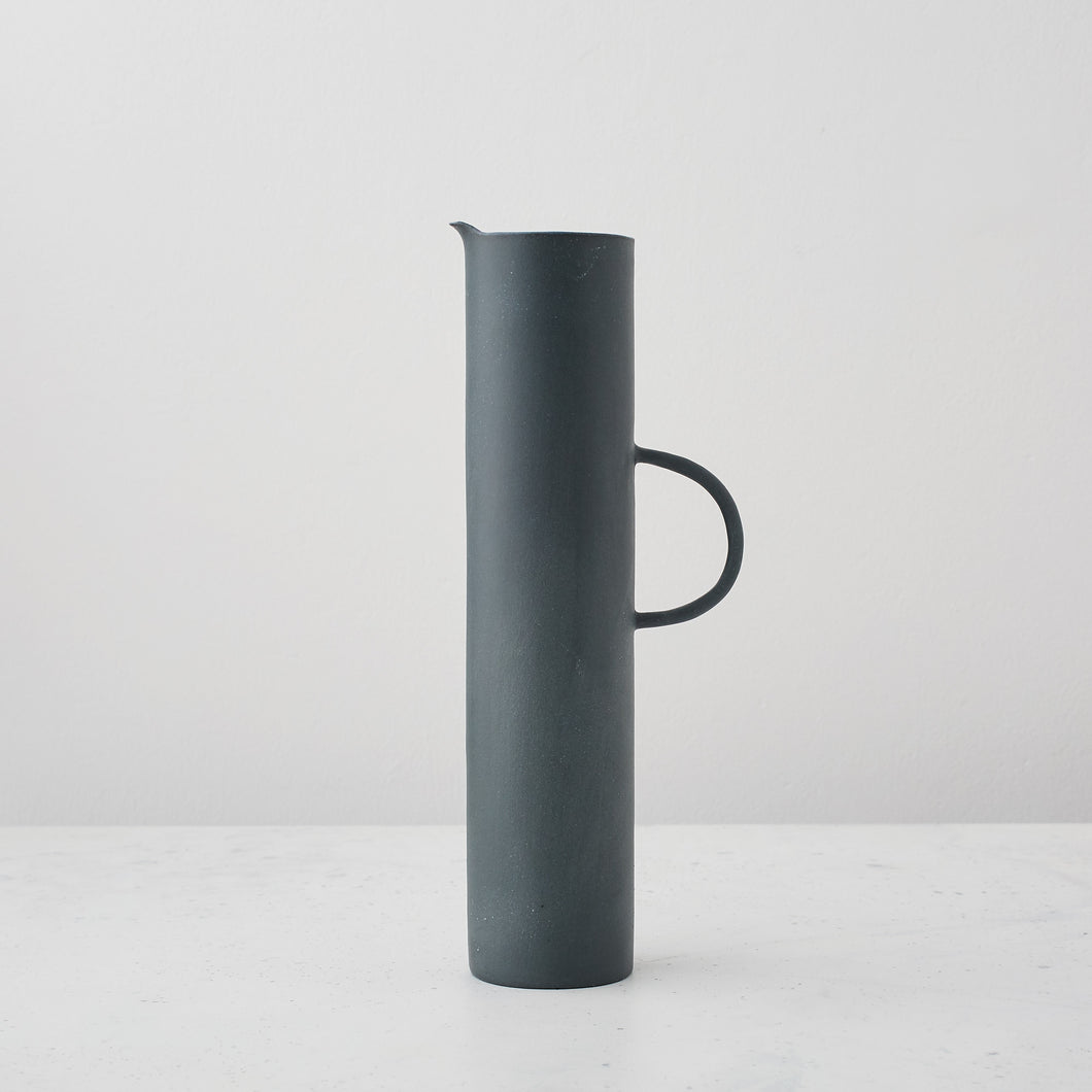 Large Cylindrical Black Jug