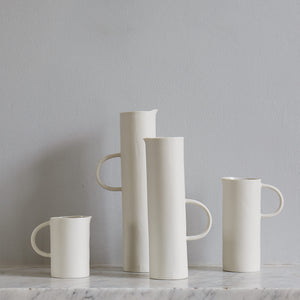 Cylindrical White Jug
