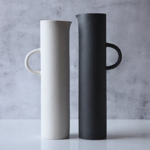 Large Cylindrical Black Jug - PRE ORDER
