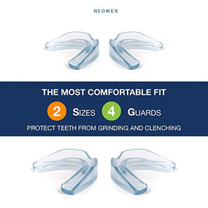 Neomen Professional Thin Fit Dental Guard - Pack of 8 - Anti Grinding Dental Night Guard, Stops Bruxism, Tmj & Eliminates