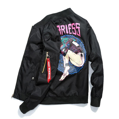MA-1 Fearless Retrowave Light Bomber Jacket-Victor Plazma