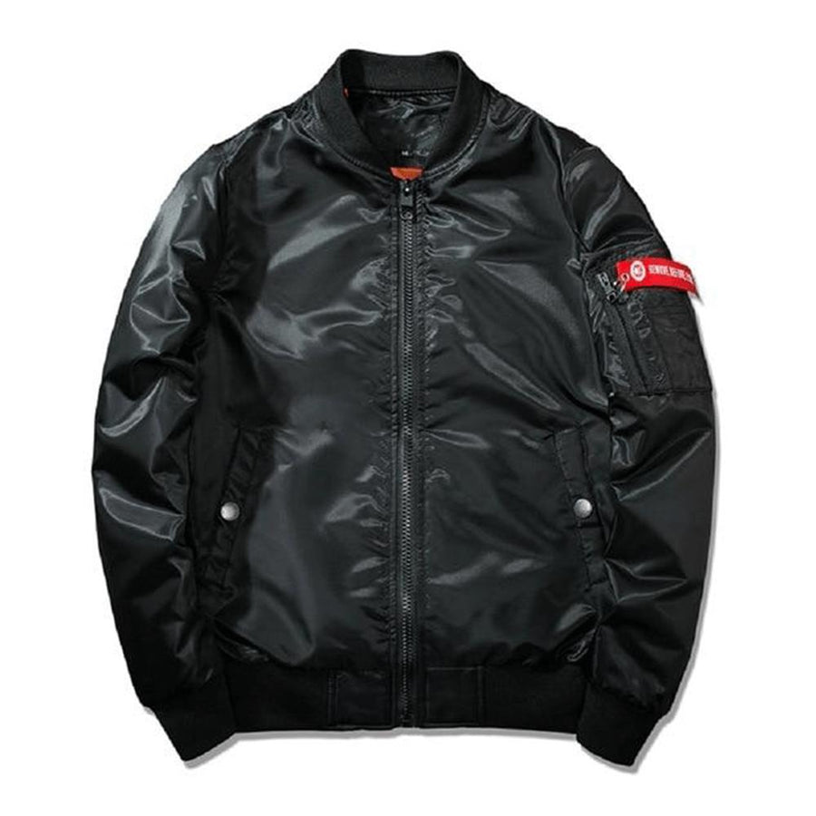"Retro MA1 ""Fearless Retrowave"" Light Bomber Jacket"